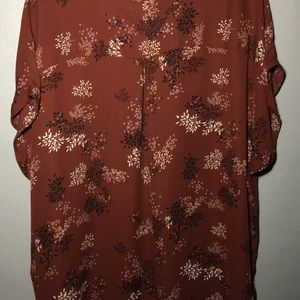 Dressy, lightweight, fall floral blouse